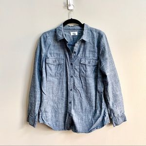 Old Navy Chambray Button Front Shirt